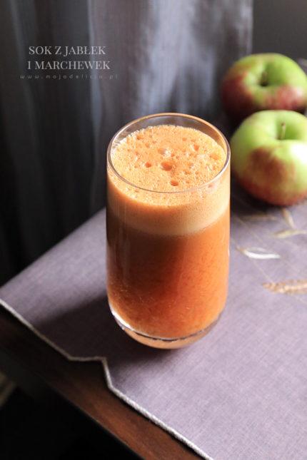 Sok z jabłek i marchewki