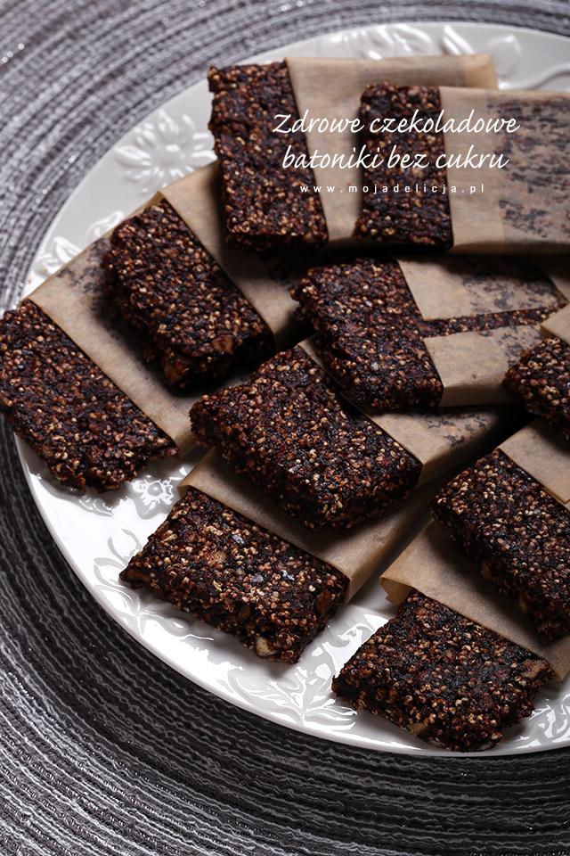 zdrowe-czekoladowe-batoniki-bez-cukru,-bez-pieczenia,-dla-dzieci,-bez-jajek,-bez-glutenu,-z-amarantusem,-daktylami,-orzechami