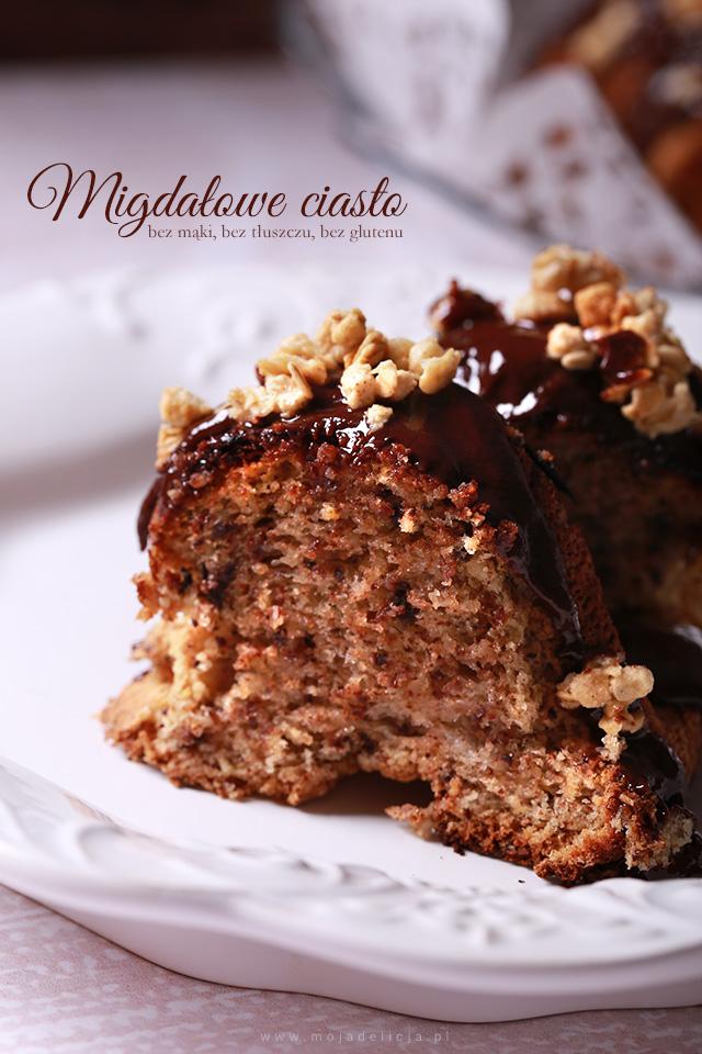 Migdałowe Ciasto Z Czekoladą Bez Mąki Bez Tłuszczu Bez Glutenu