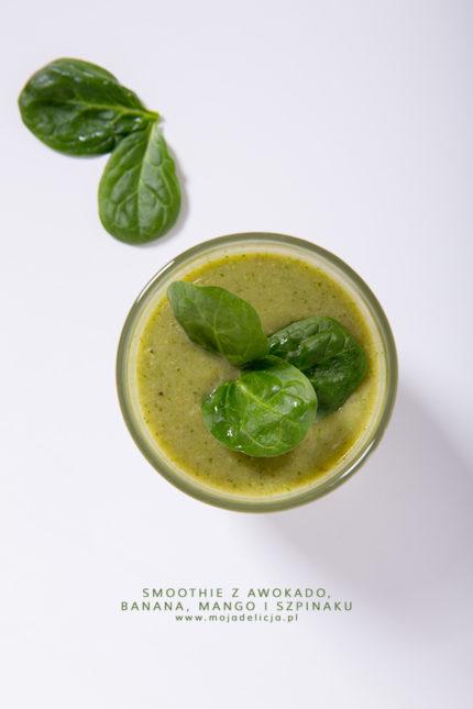 Green smoothie – koktajl z awokado, banana, mango i szpinaku
