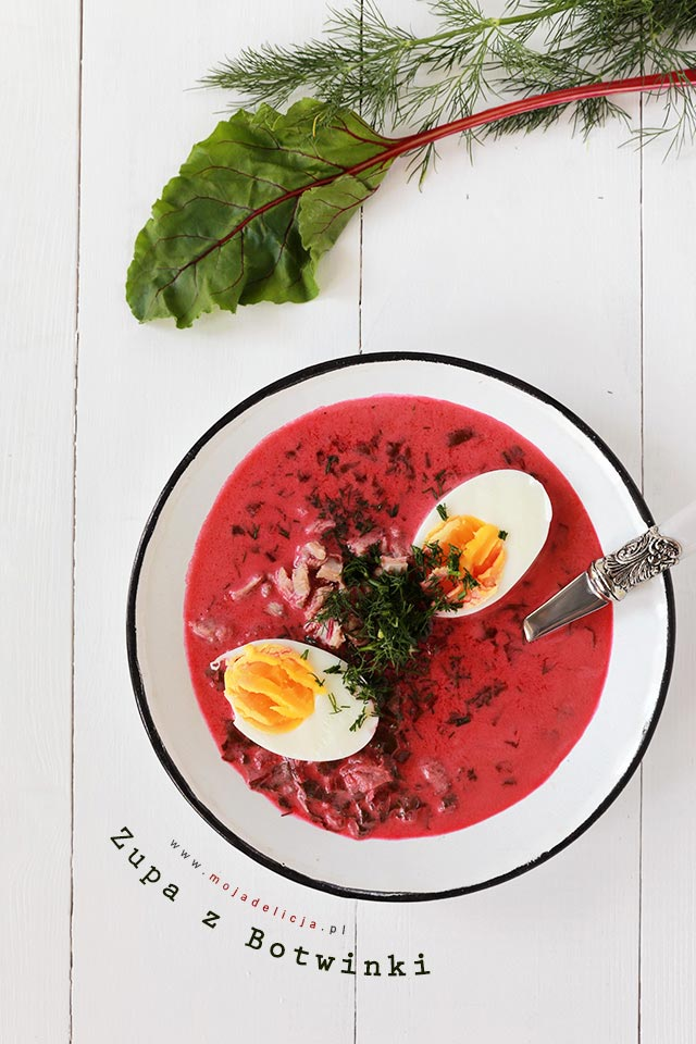 Zupa z botwinki z cielęciną