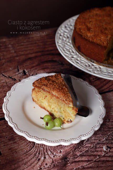 Ciasto z agrestem i kokosem