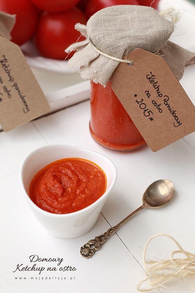 Domowy ketchup (przecier, sos pomidorowy) pikantny na zimę, przetwory