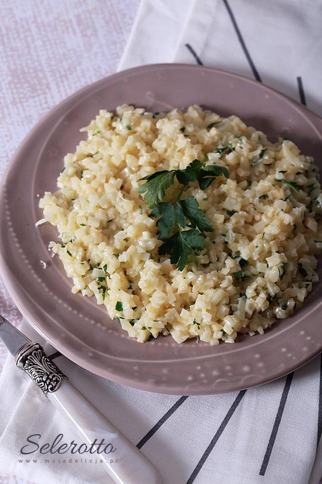 Selerotto, czyli risotto z selera (selerowy ryż)