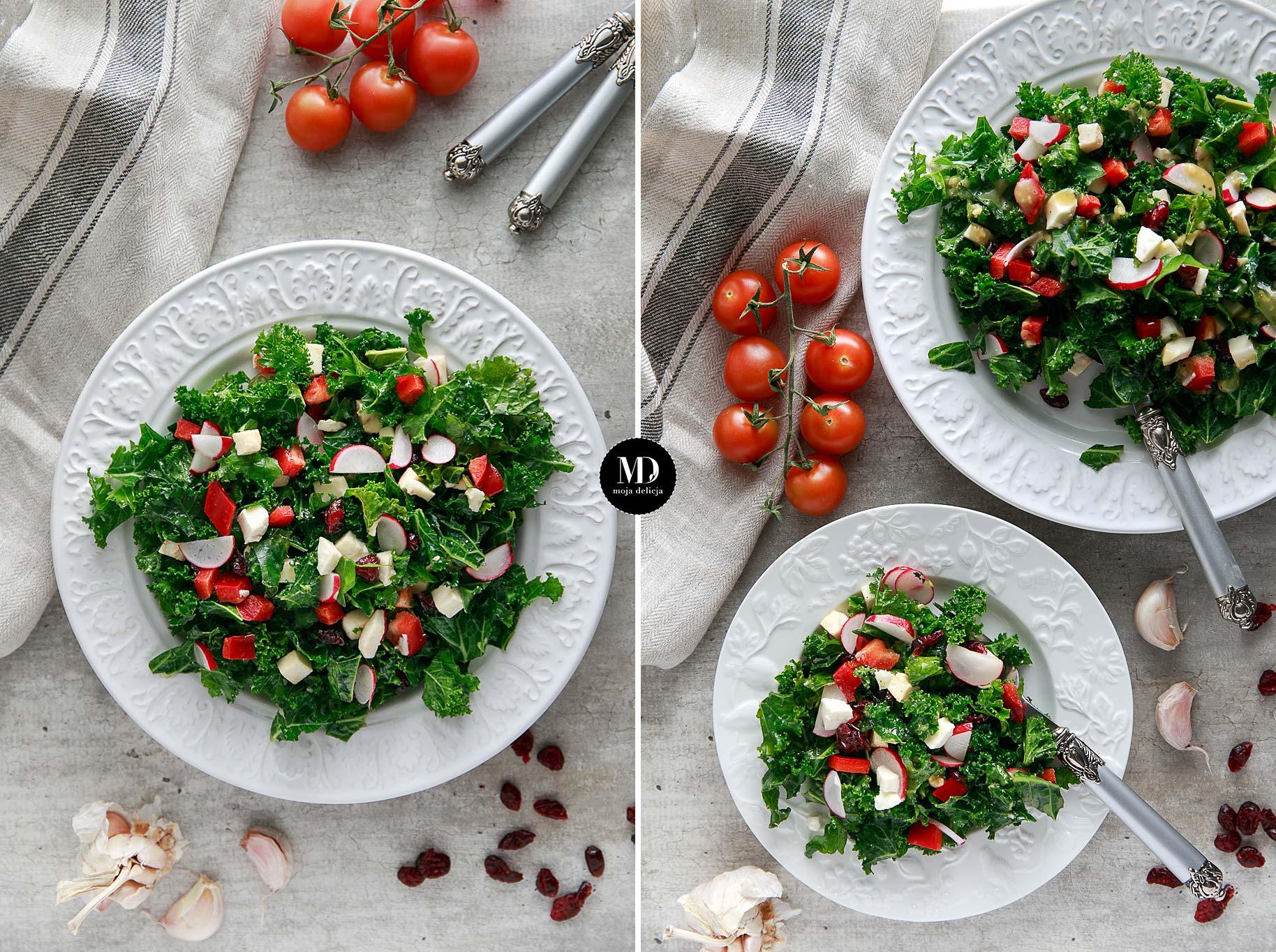 Salatka Z Surowego Jarmuzu Moja Delicja