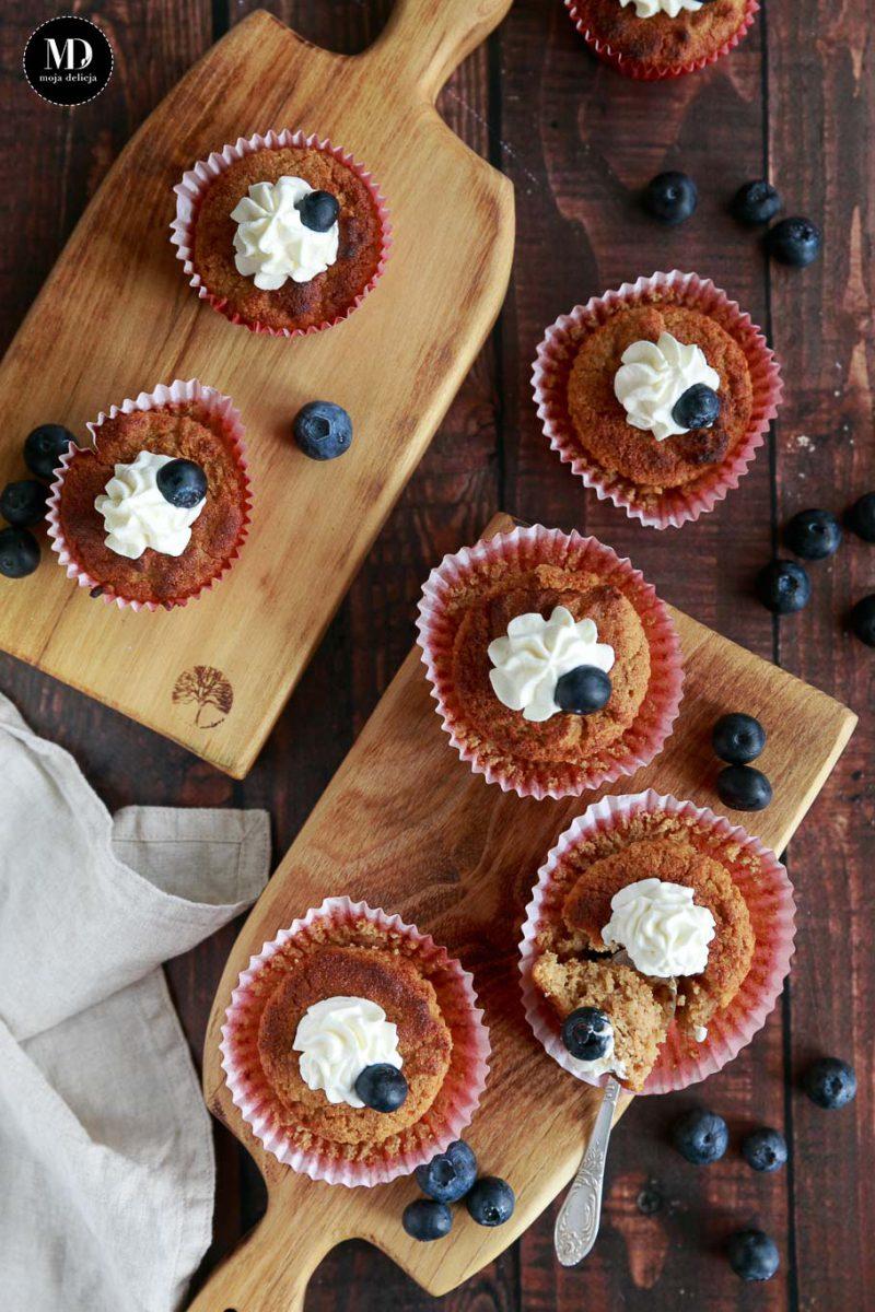 Zdrowe muffinki na mące kokosowej - bez cukru, bez glutenu