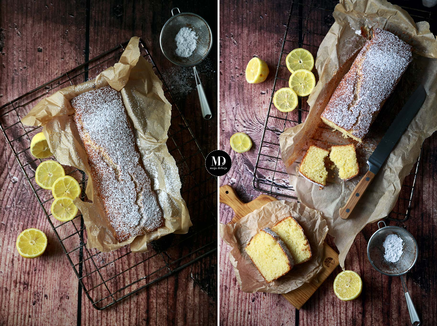 Proste ciasto cytrynowe – bez miksera