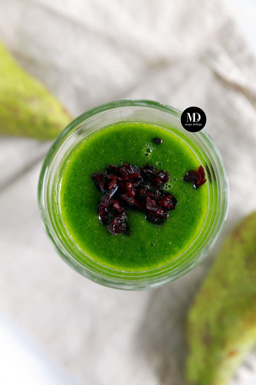 Green smoothie - zielony koktajlu z gruszką