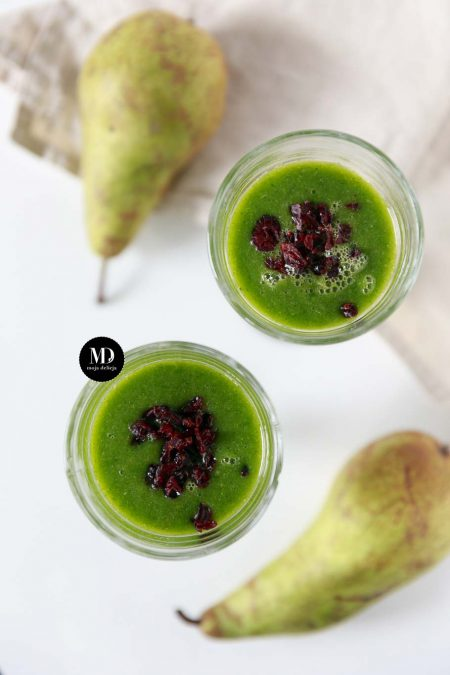 Green smoothie - zielony koktajlu z gruszką