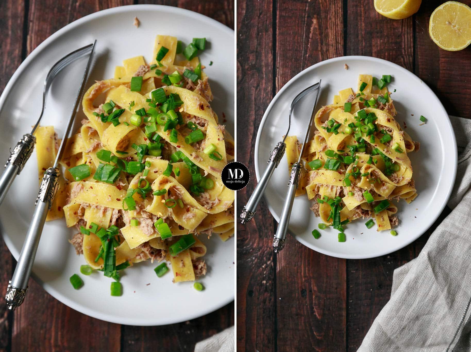 Makaron pappardelle z tuńczykiem – danie w 5 minut