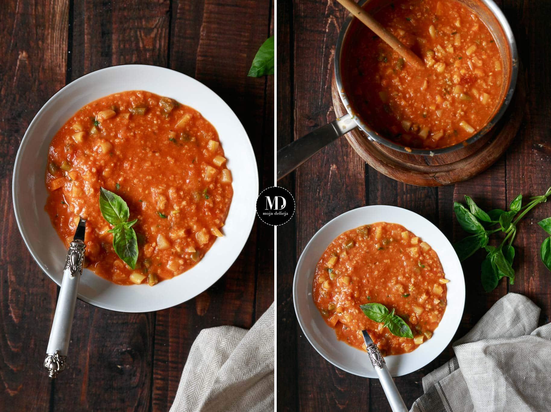 Zupa pomidorowa z fasolką szparagową