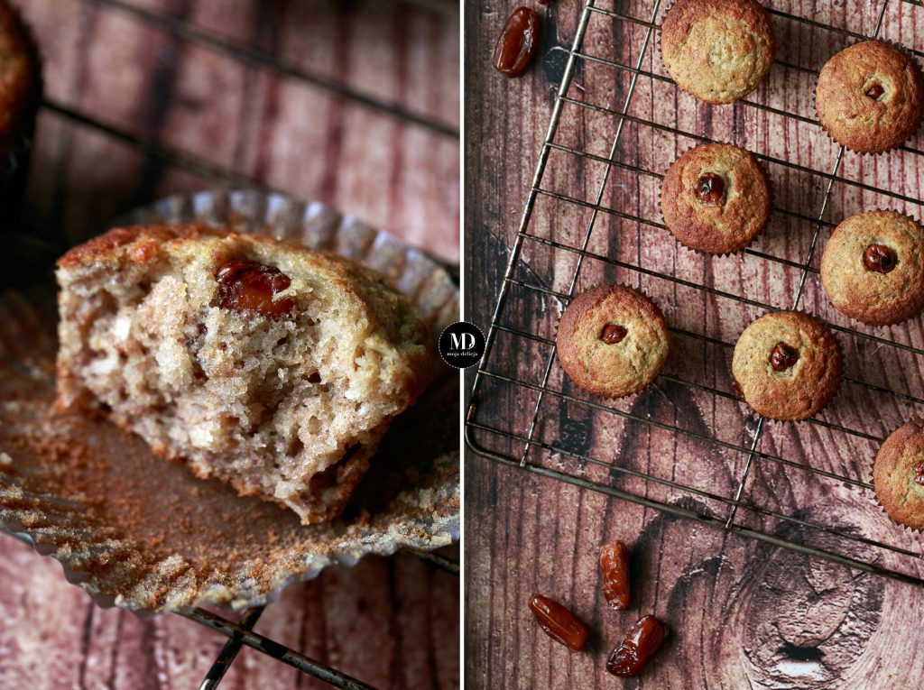Muffiny daktylowe z kokosem bez cukru - bez miksera