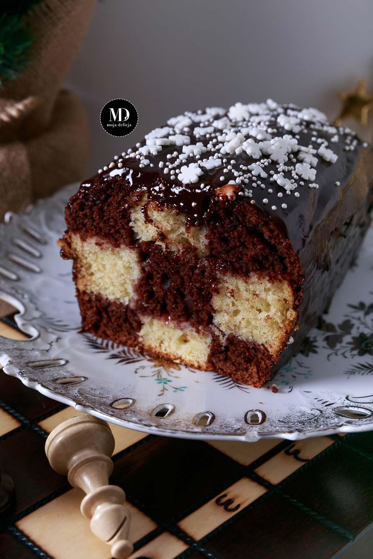 Ciasto szachownica - ciasto waniliowo-kakaowe