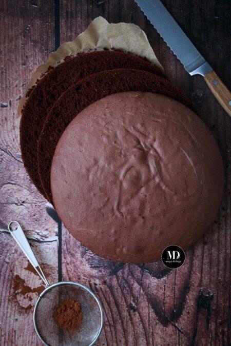 Biszkopt rzucany kakaowy