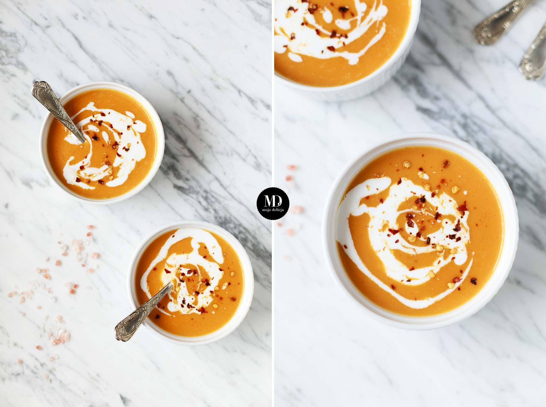 Zupa z pieczonych batatów, zupa krem z batatów