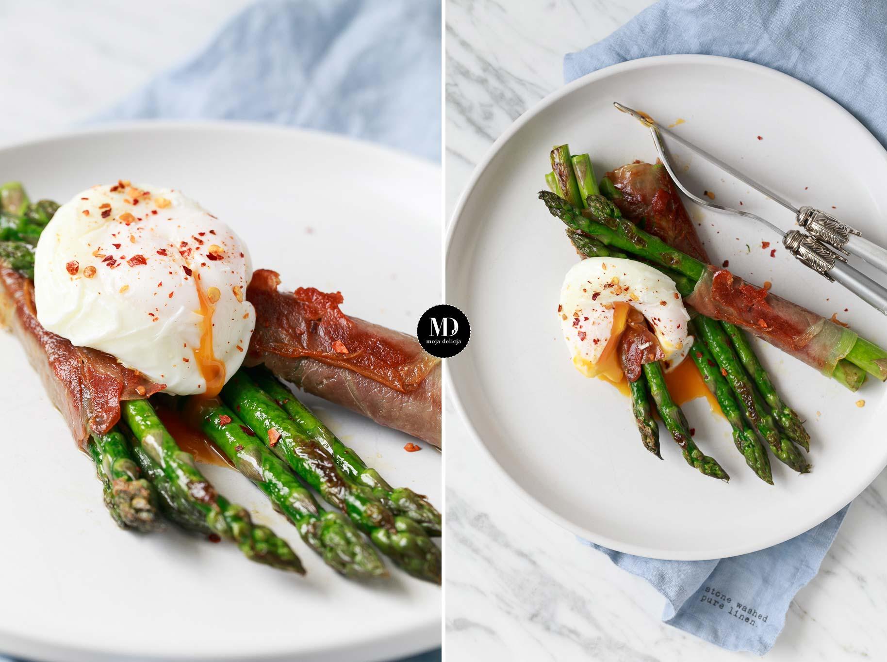 Szparagi w szynce z jajkiem w koszulce + porady jak przygotować danie wcześniej dla większej liczby osób