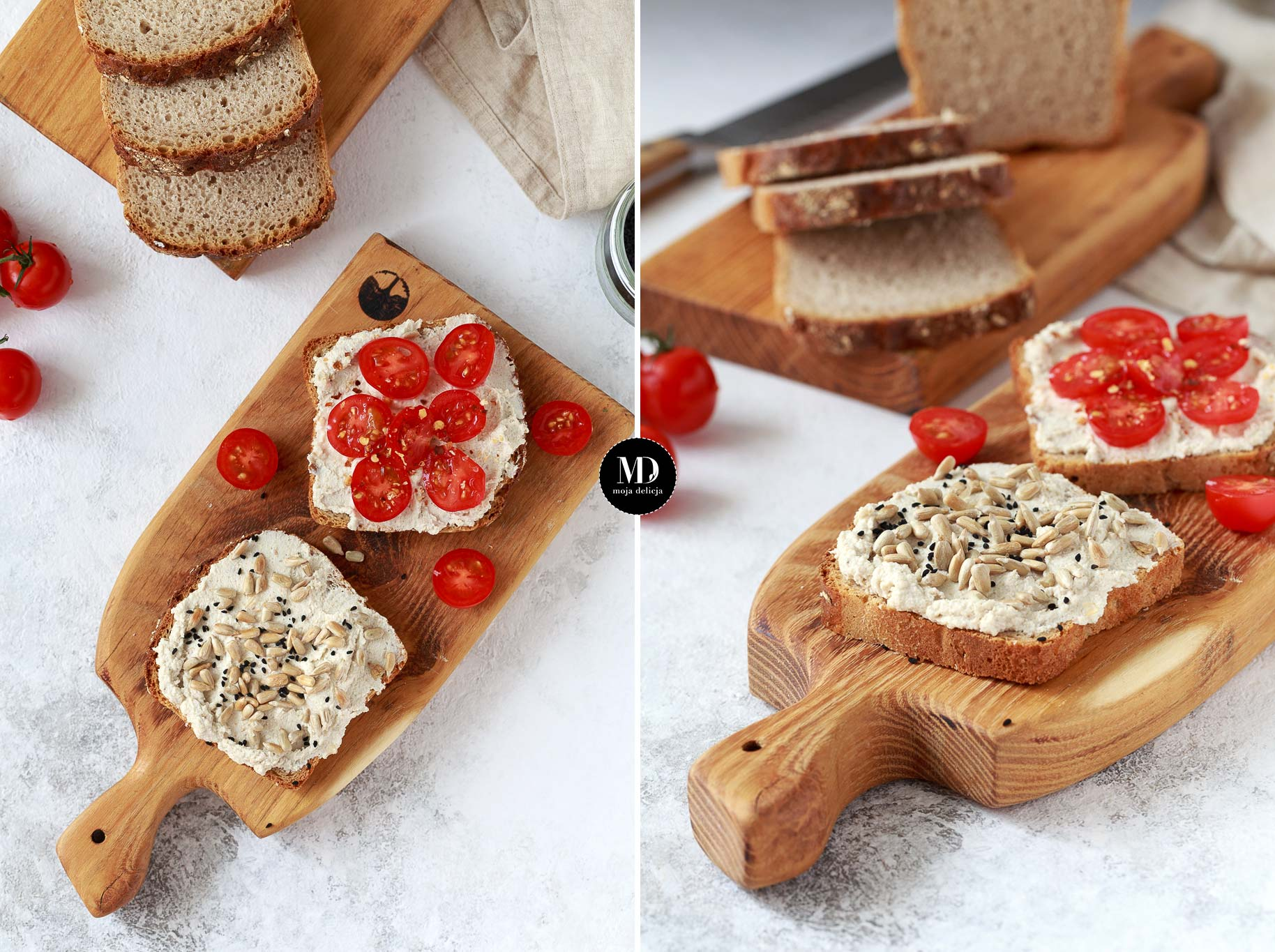 Pasta z nasion słonecznika i ricotty