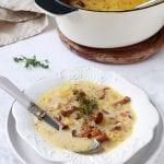Zupa ze świeżymi kurkami