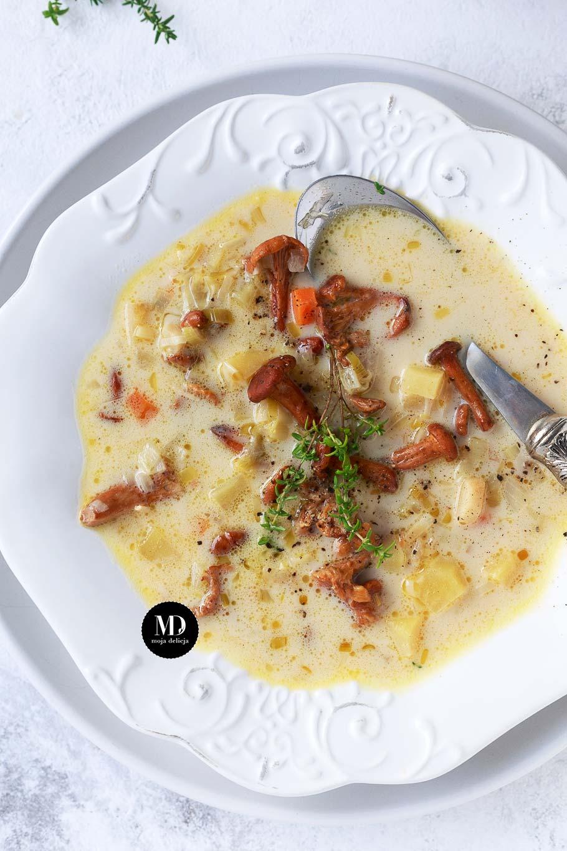 Zupa z kurkami i warzywami