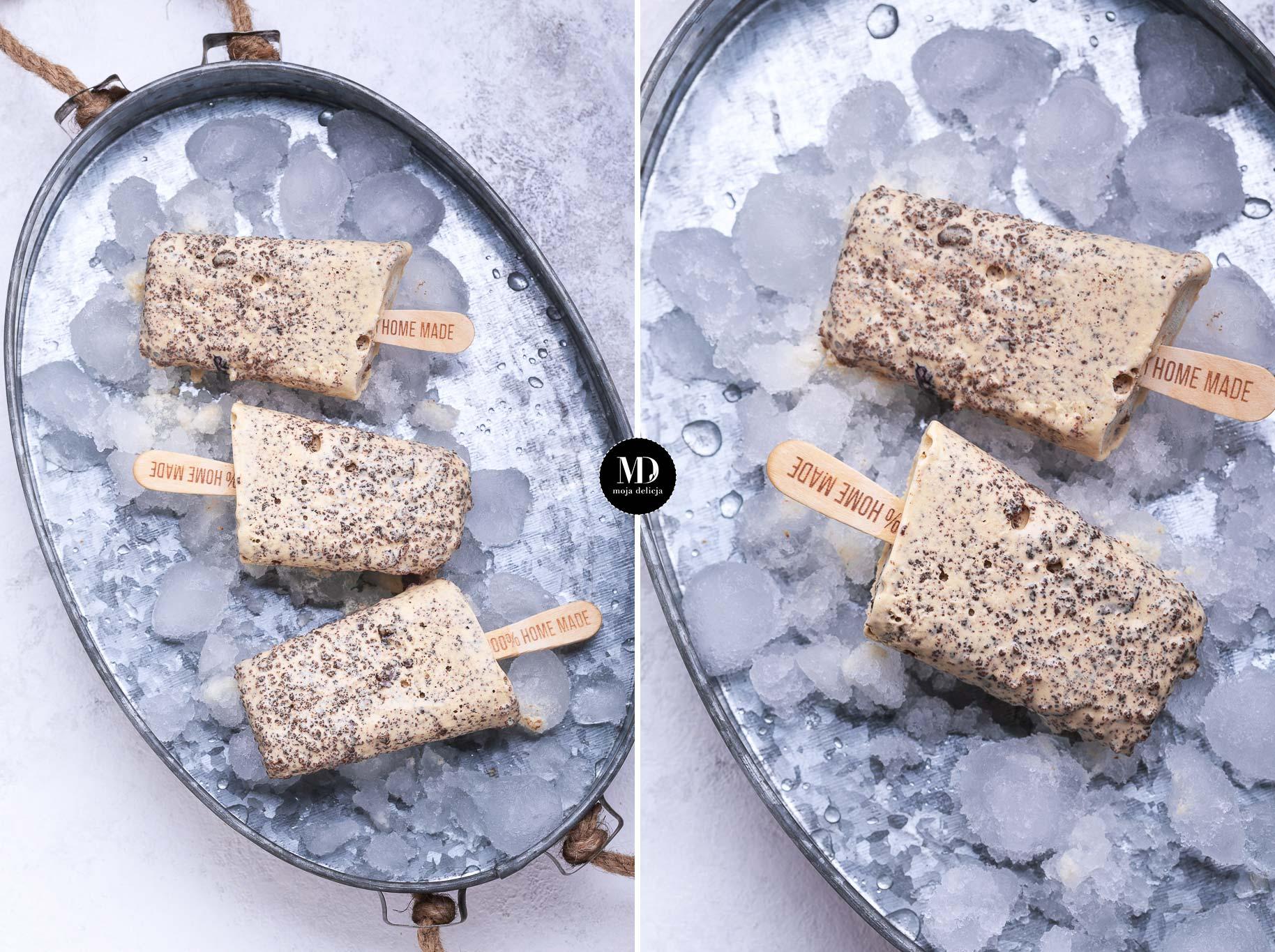 Świąteczne lody z brownie piernikowym