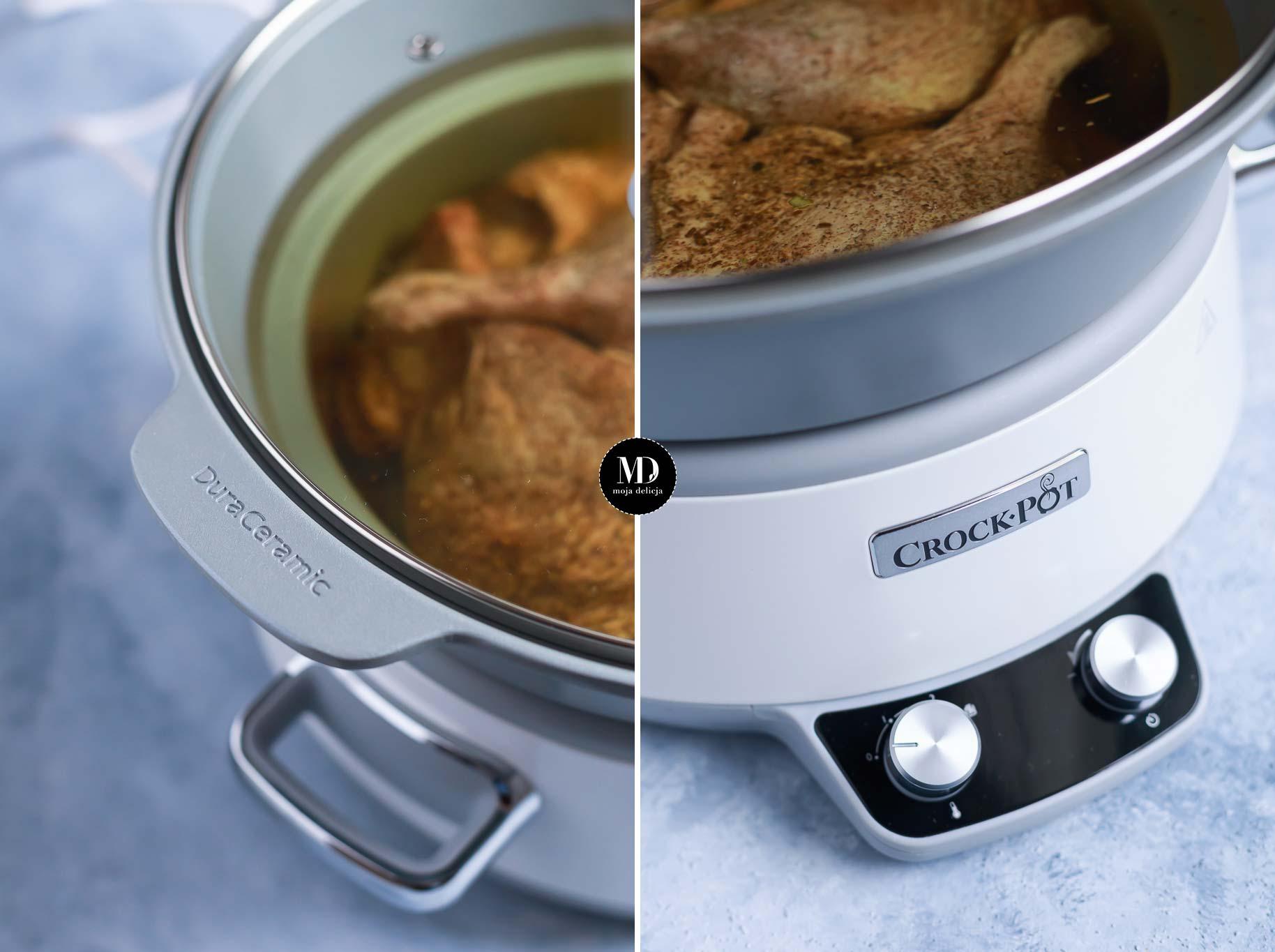 Gotowanie confitu z kaczki w wolnowarze.