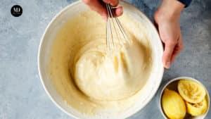 Ciasto w słoiku - Ciasto cytrynowe pieczone w słoiku - Przygotowanie - Wymieszać
